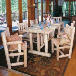 superb log cabin furniture dining room tables decosee com