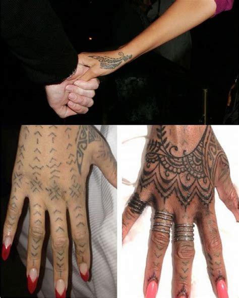 rihanna hand tattoos rihanna s tattoos are a reflection of bold personality