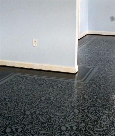 painted floor plywood diy