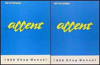 1998 hyundai accent original shop manual set l gs gl ebay 1998 hyundai accent original shop manual set l gs gl ebay