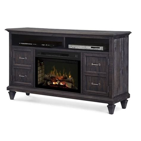 dimplex solomon electric fireplace tv stand with logset in