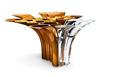 zaha hadid home zaha hadid swarovski centerpiece merging metal and
