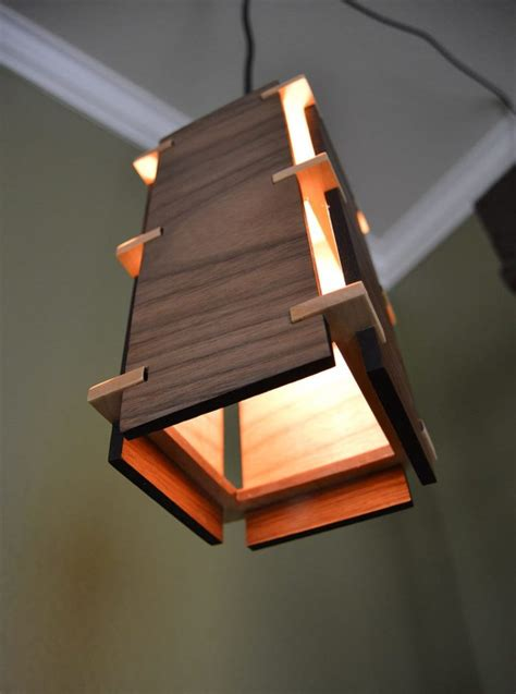 Wooden Light Pendant Square Wooden Pendant Light Id Lights