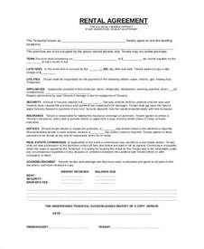 simple rental agreement 33 examples in pdf word free