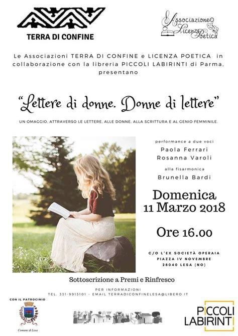 lettere di donne donne di lettere lettere di donne lesa lago maggiore