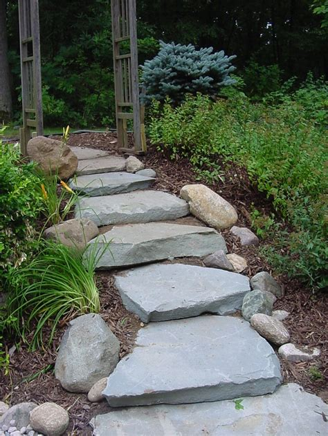 rock pathway ideas 43 awesome garden stone paths digsdigs