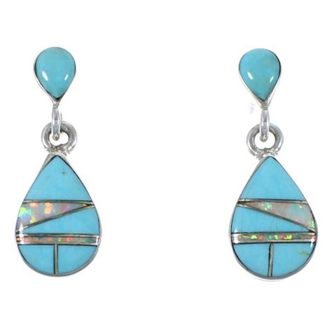 turquoise opal earrings turquoise and opal jewelry post dangle earrings cx45472