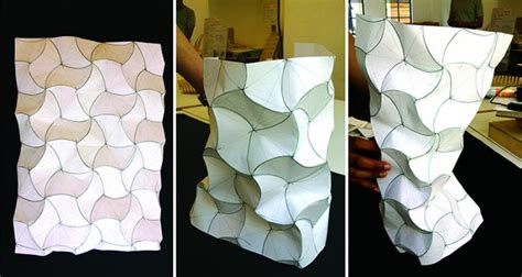 Paper Shapes Folding - aa school of architecture 2014 curved folding workshop