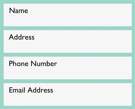 Phone Address Resume Writing Contact Information Page 1