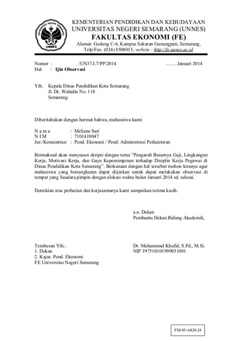 28 contoh surat permohonan wawancara penelitian