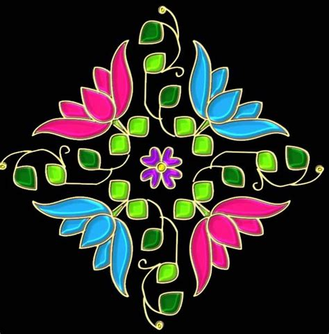 new year modern design dot rangoli designs for new year 2016 नए स ल क ल ए ड ट