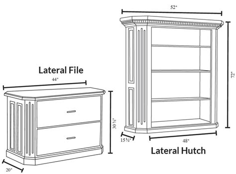 Lateral File Cabinet Dimensions Impressive Lateral File Cabinet Dimensions 7 Fifth Avenue Lateral File Cabinet With Hutch File