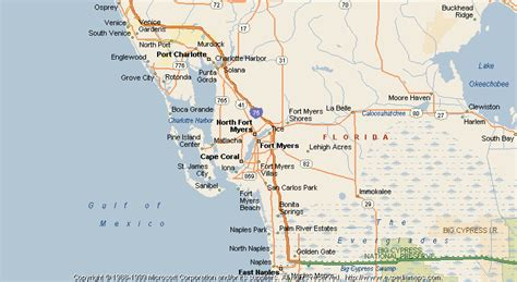 map of florida fort myers map of fort myers