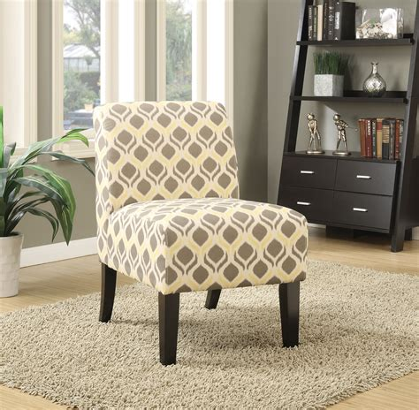 yellow patterned slipper chair ollano yellow gray fabric accent chair