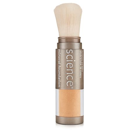 light medium skin tone colorescience brush on foundation spf 20 medium bisque
