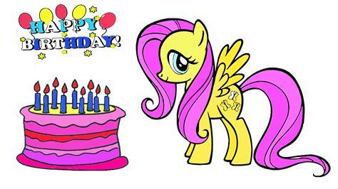 mlp fluttershy happy birthday birthday clipart my little pony