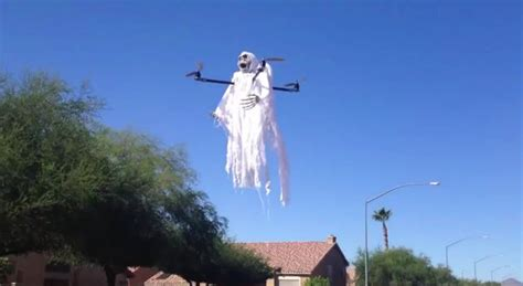 Drone Ghost here s a drone dressed up as a ghost boing boing