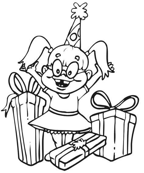 coloring page birthday girl happy birthday coloring pages for girls coloring home