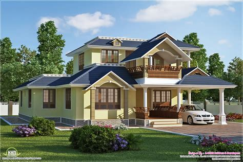 beautiful houses plans beautiful sloping roof villa plan kerala home design and floor plans