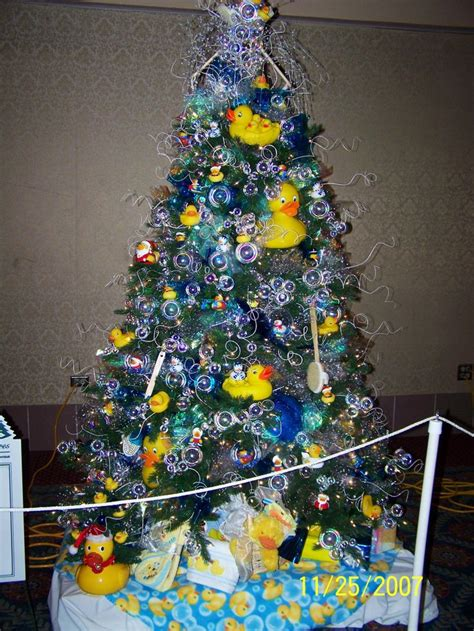 how to make a christmas tree wtih rubber gloves rubber ducky tree oh tree trees trees and