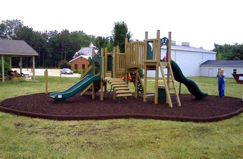 Landscape Timbers Playground Rubber Timbers Border For Rubber Mulch