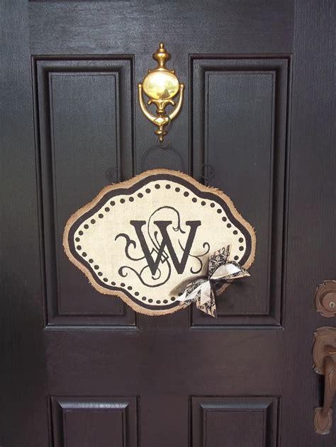 Front Door Hanging Front Door Hanging Last Name Initial Front Door Hanger Made By Yours Truly Craft Ideas Names