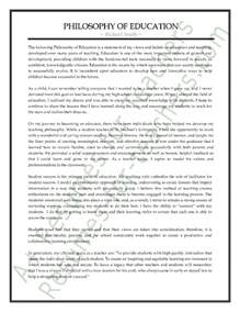 Sample Philosophy of Education Statement to Show Teaching
