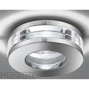franklite rf266 glass recessed bathroom downlight at