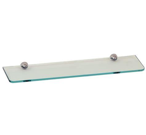 mensola cristallo mensola cristallo neutro o satinato 50 cm per bagno