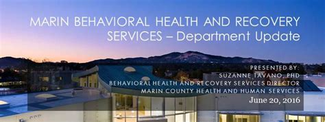 department of health care services recovery section behavioral health and recovery services marin health and