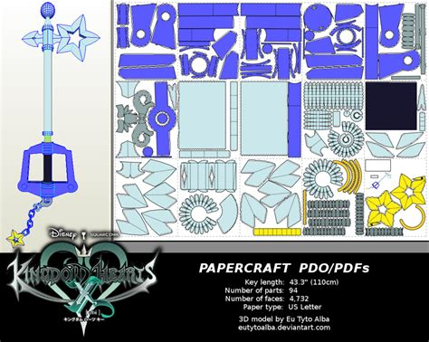Kingdom Hearts Papercraft - kingdom hearts starlight keyblade papercraft