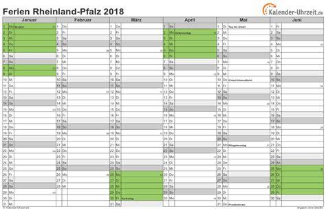 Kalender 2018 Ferien Kostenlos Ferien Rheinland Pfalz 2018 Ferienkalender Zum Ausdrucken