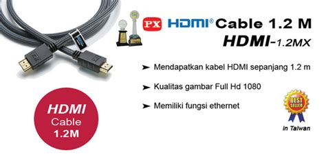 Px Hdmi Cable 2m jual px hdmi to hdmi cable 1 2m hdmi 1 2mx murah bhinneka