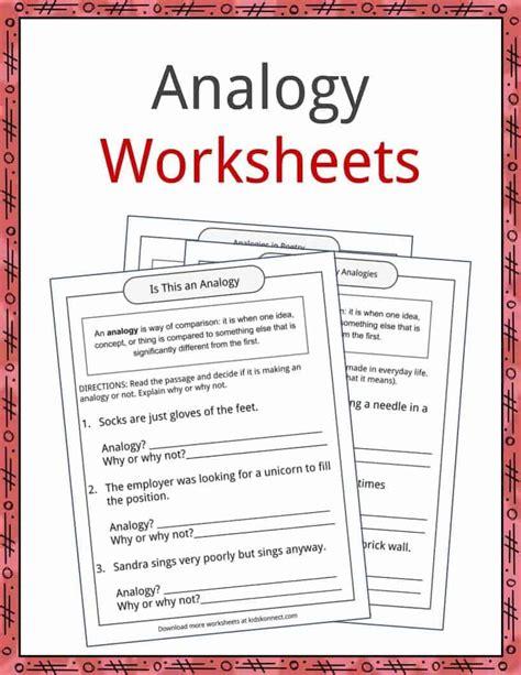 worksheets analogy worksheets atidentity com free