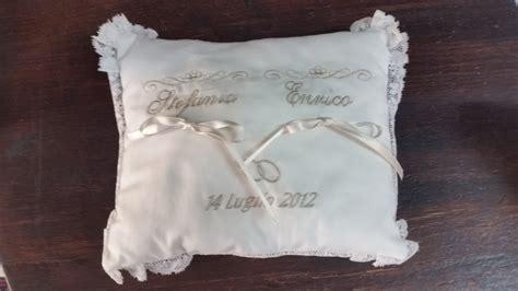 cuscino portafedi ricamato 20140906 programma ricamo cuscino portafedi con il nome