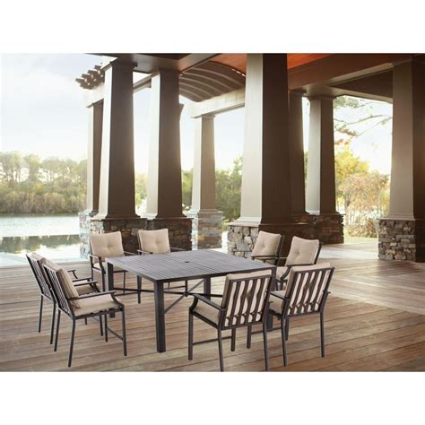 hton bay millstone 9 slat top patio high dining