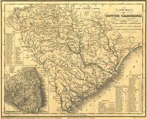 historic railroad map of south carolina 1833