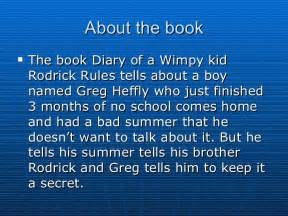 Diary Of A Wimpy Kid Book Report Diary Of A Wimpy Kid Rodrick Rules