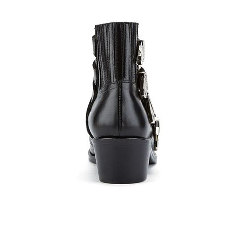 toga pulla s buckle side leather heeled ankle boots