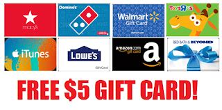 Home Depot Gift Cards At Walmart - free 5 gift card to any store amazon walmart home depot kmart sears macy s lowe