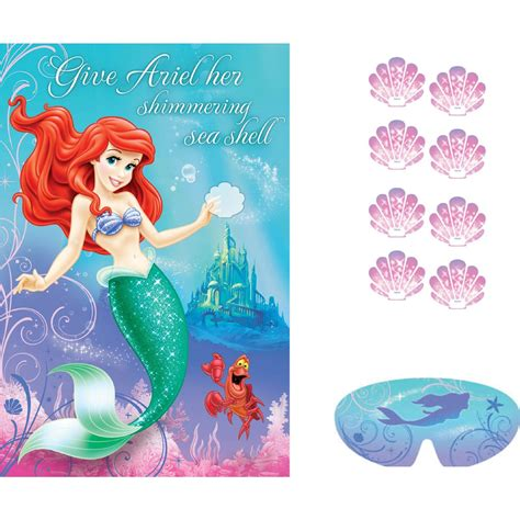 ariel the little mermaid sparkle party supplies pin the