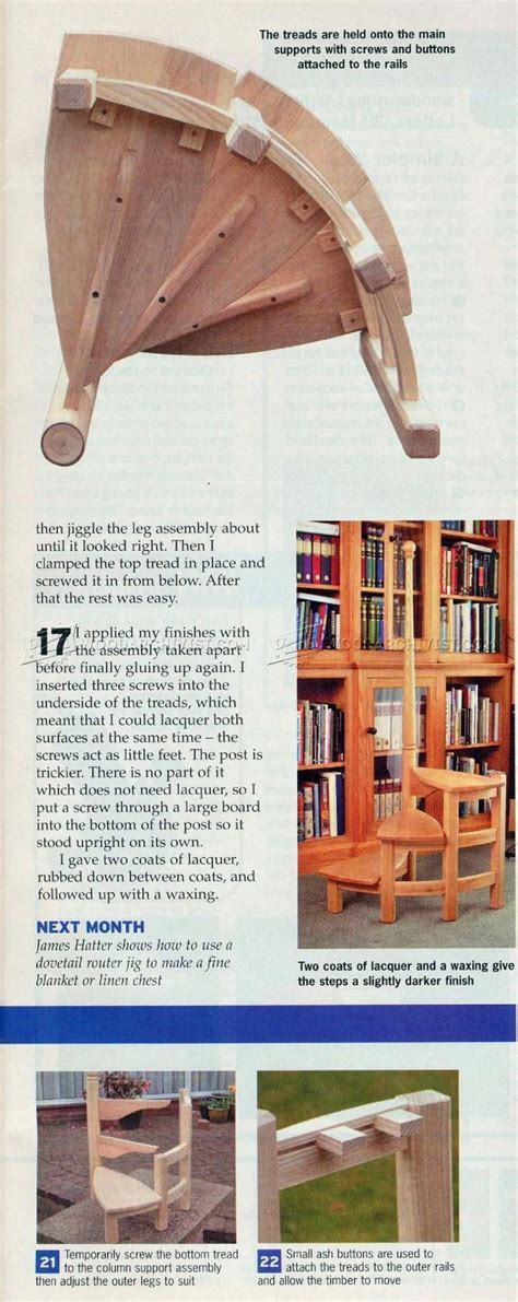 library steps plans woodarchivist