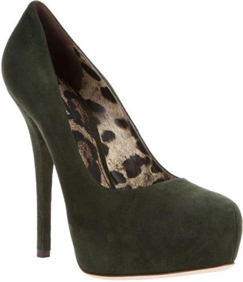 khaki high heels dolce gabbana high heeled platform shoes in green khaki