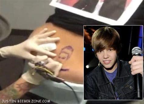 justin bieber getting his tattoo video justin bieber top 5 craziest fans justinbieberzone com
