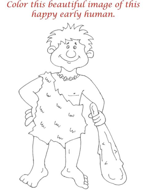 early humans coloring page early humans printable coloring page for kids 9