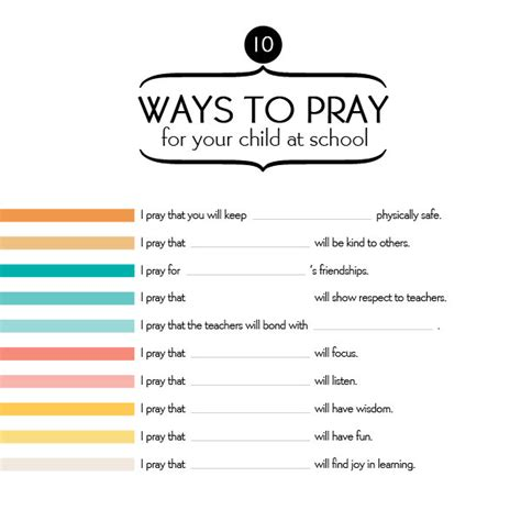 printable children s prayers 10 ways to pray for your child at school imom