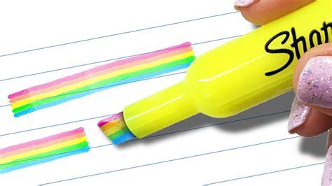 Cool Office Supplies haz un marcatextos de arcoiris truco sorprendente youtube