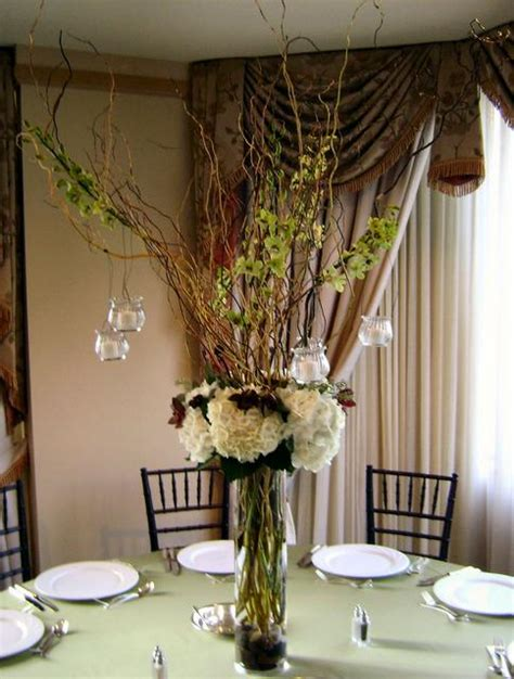 wedding centerpieces with curly willow wedwebtalks