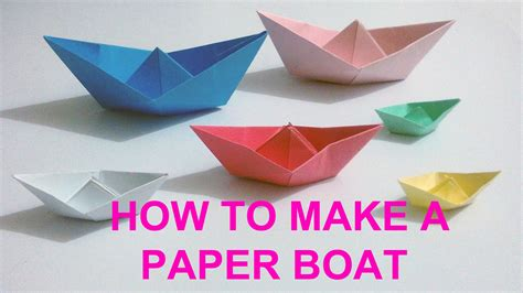 Craft Paper Boat - how to make a simple paper boat paper craft boat