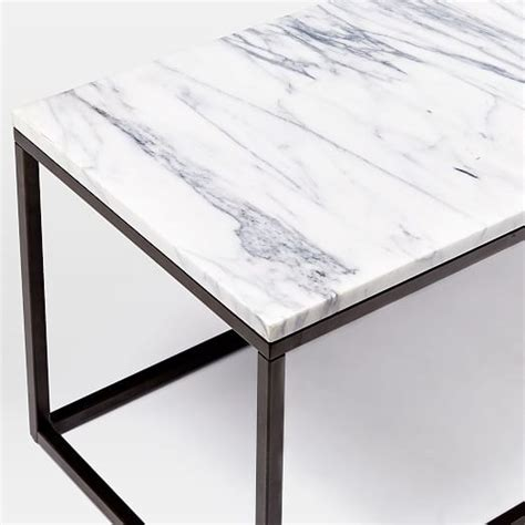 West Elm Marble Coffee Table Box Frame Coffee Table Marble Antique Bronze West Elm